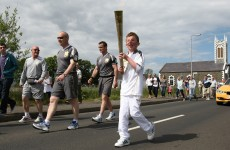 Olympic torch spotlights Northern Ireland coast