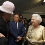 One is DEFINITELY getting a hat like Grace Jones's. (Dave Thompson/PA Wire/Press Association Images)