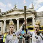 """I came here to see Jedward carry the Olympic torch. It was awesome because, like, they're Jedward. I didn't know it would be a big thing with a fire on top, I thought it was a torch you would shine stuff on."