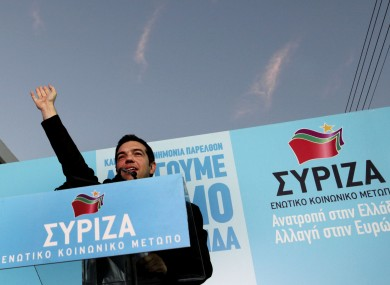 Alexis Tsipras during a pre-election rally