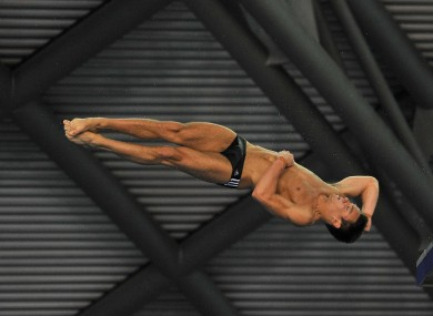 Tom Daley wins gold at today's British Diving Championships.