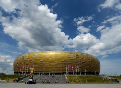 A view of the PGE Arena in Gdansk.