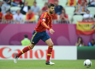 Pique has looked less than assured in defence at times this season.