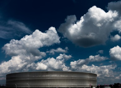 Wroclaw's Municipal Stadium, where the Czech Republic beat Greece 2-1 last night.