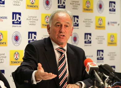 Rangers Charles Green (Chief Executive) during a press conference.