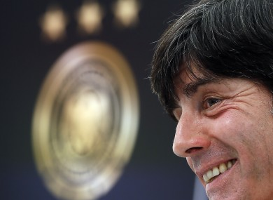 ermany head coach Joachim Loew addresses the media during a press conference yesterday.