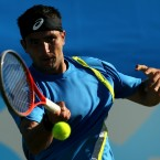 Australia's Marinko Matosevic in action against France's Richard Gasquet on day two of the AEGON International at Devonshire Park, Eastbourne. (PA)