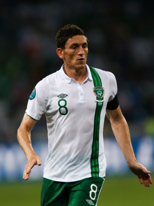Andrews played in all three of Ireland's Euro 2012 games.
