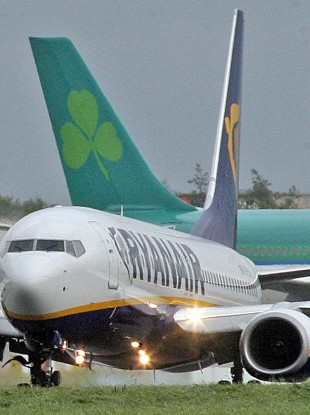Ryanair and Aer Lingus do not carry defibrillators on European flights