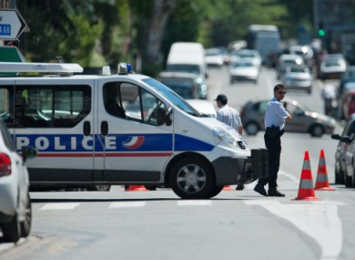 Police at the scene in Toulouse.
