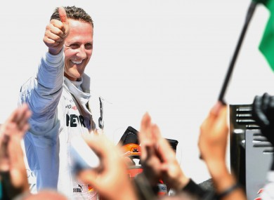Schumacher today.