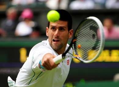 Djokovic secured a comfortable victory today.