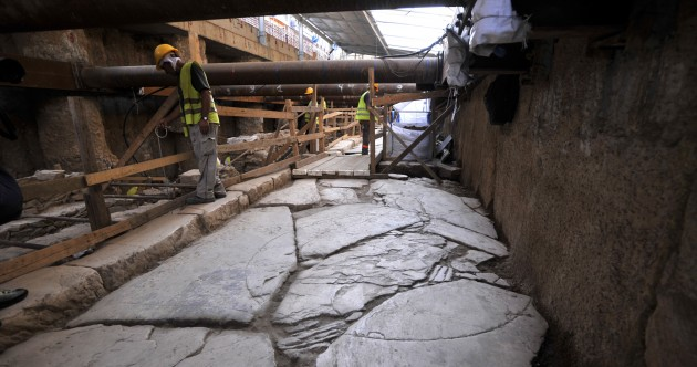 Work on Greek subway system uncovers 2,500-year-old road