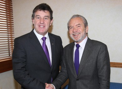 Bill Cullen with British  'The Apprentice' star and businessman Alan Sugar