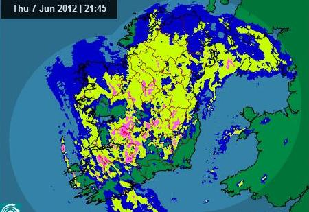 Rainfall radar shot