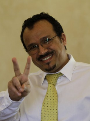 Irish trained doctor Ali al-Ekri after hearing the result of the re-trial.