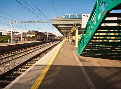 Daly Train Station in Bray, obviously pictured during warmer times.