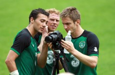 Caption time: what was going on at Ireland training this afternoon?