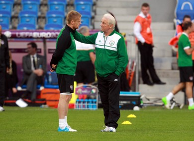 Trap with Damien Duff today.