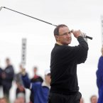Martin O'Neill tees off at the first. ©INPHO/Presseye/Jonathan Porter.
