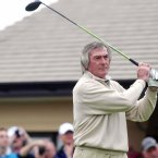Pat Jennings watches his drive. ©INPHO/Presseye/Jonathan Porter.