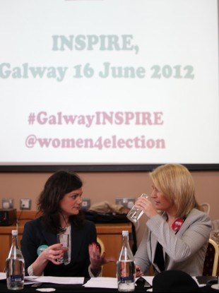 Niamh Gallagher and Senator Lorraine Higgins.
