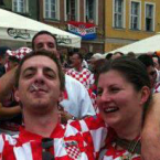 ... for inappropriate displays of cleavage goes to -- Croatian fan Jelena Miksa.