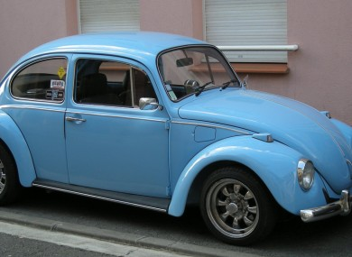 This probably isn't the Beetle owned by the Prince. Vroom vroom.