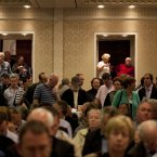 Scenes at the auction in the Shelbourne Hotel in Dublin today (Photo Eamonn Farrell/Photocall Ireland)