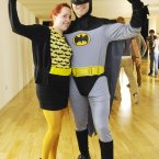 Batgirl Aoife Ryan from Fairview with Batman Nathan Cox Picture: Sasko Lazarov / Photocall Ireland