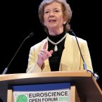 Former President of Ireland and Former UN High-Commissioner, Mary Robinson, was a keynote speaker at Euroscience Open Forum 2012 (ESOF) in the Convention Centre Dublin. 