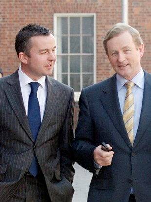 Brian Hayes with Enda Kenny (File photo)