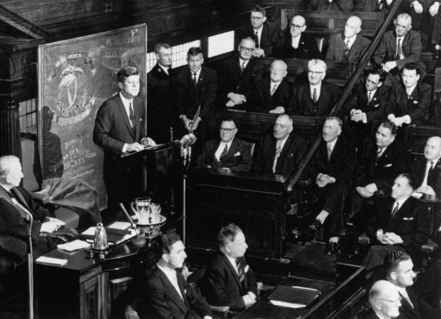 President John F. Kennedy addresses the Dail