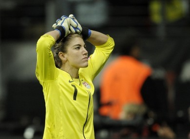 Solo is a goalkeeper for the US women's team.
