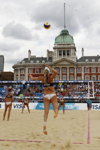 Britain London 2012 Olympic Beach Volleyball