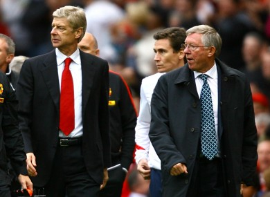Arsene Wenger and Alex Ferguson.