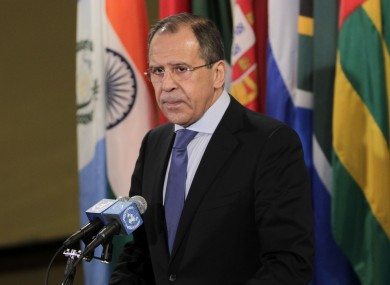 Russian foreign minister Sergei Lavrov says Western countries are trying to blackmail Russia over its stance in the Syrian conflict.