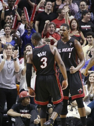 NBA Champions Dwyane wade and Chris Bosh have both been ruled out.
