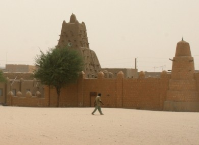 April 2012 photo of the Sankore Mosque, a UNESCO heritage site in Timbuktu.
