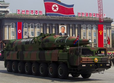 A North Korean military parade (File)