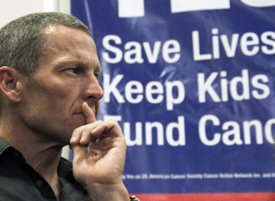 Lance Armstrong: facing doping probe in US.