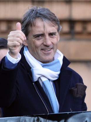 Mancini helped City win the Premier League last season.