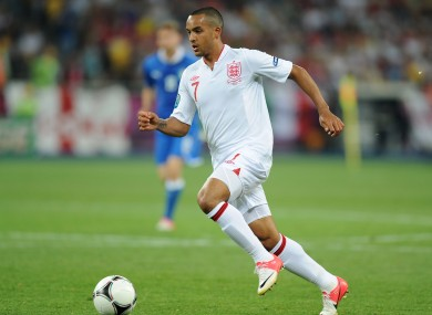 Walcott playing for England at Euro 2012.