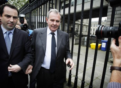 Bankrupt ex-billionaire Sean Quinn leaving the High Court in Dublin last month