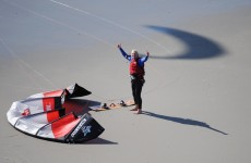 Video, photos: Virgin tycoon Richard Branson and son set kitesurfing records