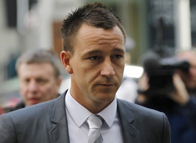 John Terry arrives at Westminster Magistrates Courts in London this morning.
