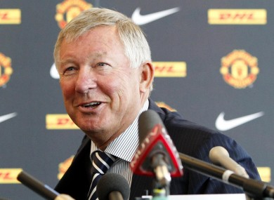 Alex Ferguson at a Man Utd press conference today.
