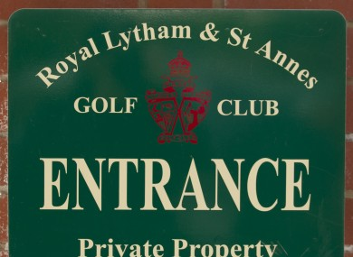 Royal Lytham & St Annes golf club will host this year's event.