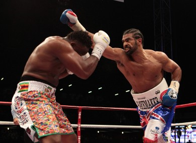 Haye and Chisora have had a long-running feud.