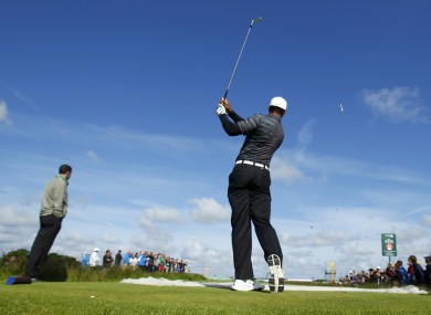 Tiger Woods took in a practice round at Royal Lytham &amp; St. Annes Golf Club yesterday.